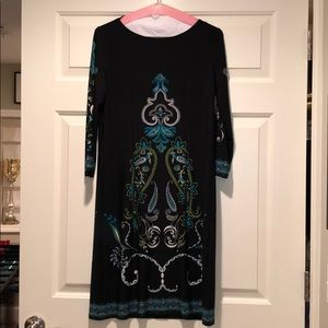 Boho long sleeve shift dress size 8